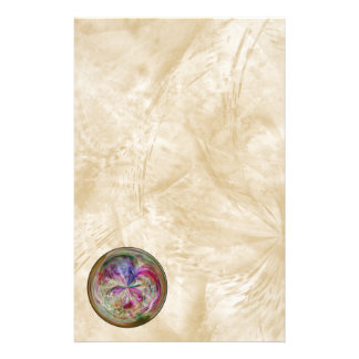 Multicolor Abstract Bubble Mandala Stationery