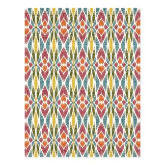 Multicolor Abstract Flowers Design 21.5 Cm X 28 Cm Flyer
