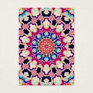 Multicolor Abstract Kaleidoscope Mandala Business Card