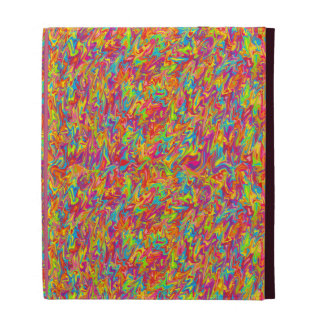 Multicolor Abstract Swirl iPad Cases
