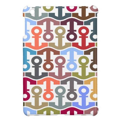 Multicolor Anchors iPad Mini Cover