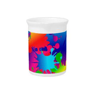 Multicolor Art Heart Drink Pitchers