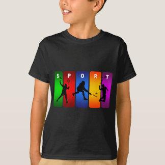 Multicolor Badminton Emblem T-Shirt