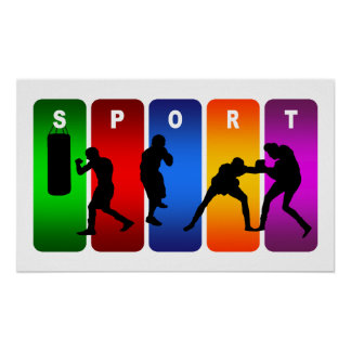 Multicolor Boxing Emblem Poster