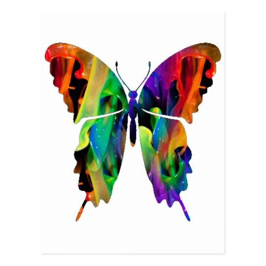 MULTICOLOR BUTTERFLY PRODUCTS POSTCARD