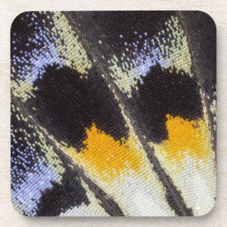 Multicolor butterfly wing pattern drink coaster