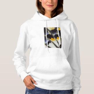 Multicolor butterfly wing pattern hoodie