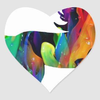 MULTICOLOR CABALLO PRODUCTS HEART STICKERS