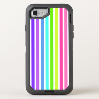 Multicolor Candy Striped OtterBox Defender iPhone 8/7 Case