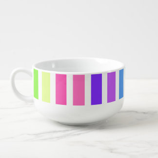 Multicolor Candy Striped Soup Mug