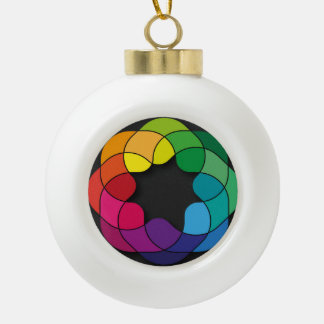 Multicolor Ceramic Ball Christmas Ornament