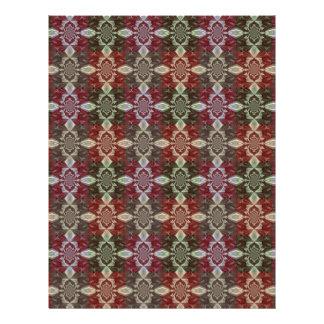 Multicolor Chains and Squares Design 21.5 Cm X 28 Cm Flyer