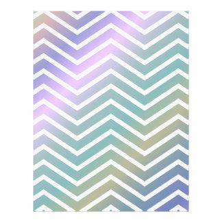 Multicolor chevron pattern 21.5 cm x 28 cm flyer