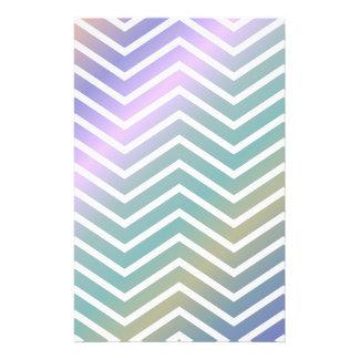 Multicolor chevron pattern 14 cm x 21.5 cm flyer