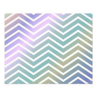 Multicolor chevron pattern 11.5 cm x 14 cm flyer