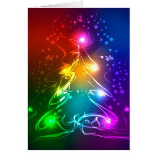 Multicolor Christmas Tree Greeting Card