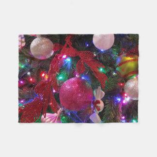 Multicolor Christmas Tree Colorful Holiday Fleece Blanket