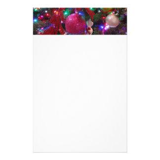 Multicolor Christmas Tree Stationery