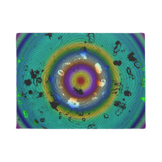 Multicolor Circled Abstract Art Doormat