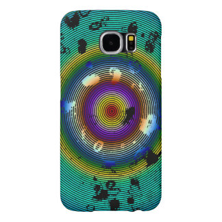 Multicolor Circled Abstract Art Samsung Galaxy S6 Cases