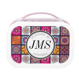 Multicolor Decorative Floral mandala tiles Lunch Box