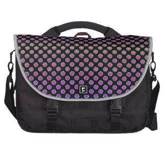 Multicolor Dots Chrome Laptop Messenger Bag
