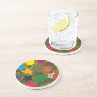Multicolor Drinking Coaster - Splattered Paint