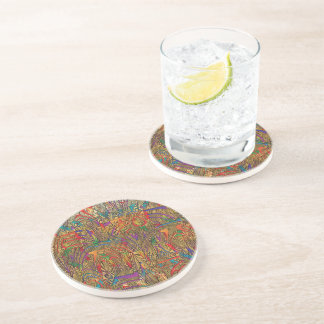 Multicolor Drinking Coaster - Strips Cover B3