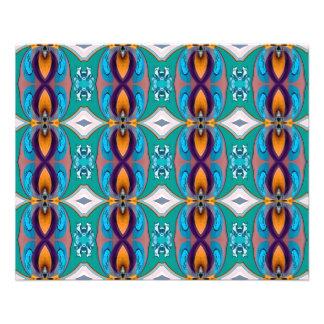 Multicolor Elegant Chains  Design 11.5 Cm X 14 Cm Flyer
