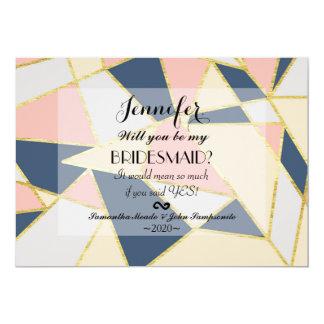 Multicolor Elegant Geometric Triangles 13 Cm X 18 Cm Invitation Card