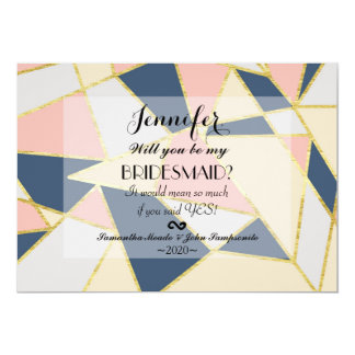 Multicolor Elegant Geometric Triangles Card