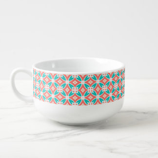 Multicolor Ethnic Pattern Soup Mug