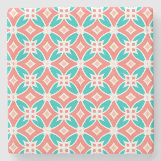 Multicolor Ethnic Pattern Stone Coaster