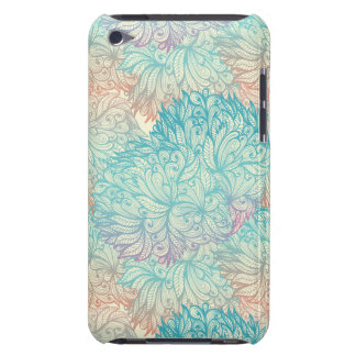 Multicolor Floral Doodle Pattern Barely There iPod Covers