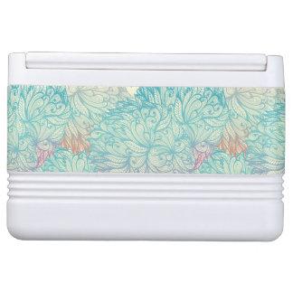 Multicolor Floral Doodle Pattern Igloo Cooler