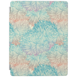 Multicolor Floral Doodle Pattern iPad Cover