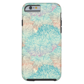 Multicolor Floral Doodle Pattern Tough iPhone 6 Case