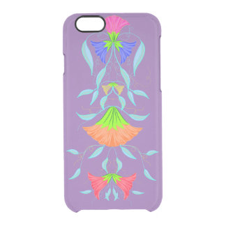 Multicolor,  floral pattern, clear iPhone 6/6S case