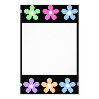 Multicolor flower frame stationary customised stationery