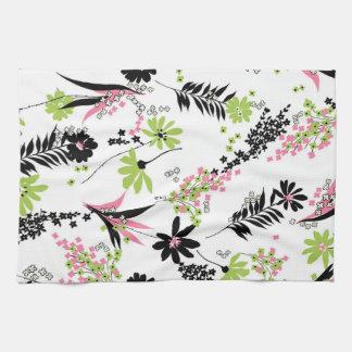 Multicolor Flowers Tea Towel