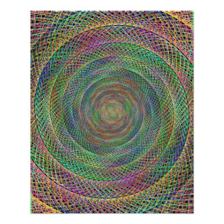 Multicolor fractal 11.5 cm x 14 cm flyer