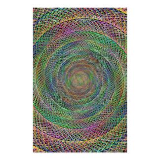 Multicolor fractal 14 cm x 21.5 cm flyer