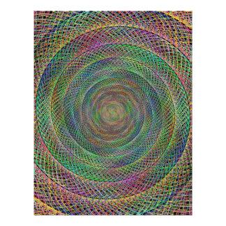 Multicolor fractal 21.5 cm x 28 cm flyer