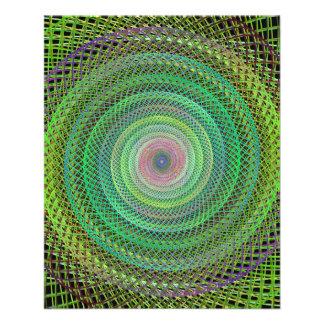 "Multicolor fractal 4.5"" x 5.6"" flyer"