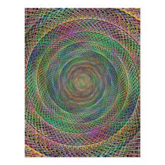 "Multicolor fractal 8.5"" x 11"" flyer"