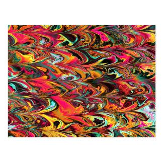Multicolor Fractal. Parrot Pattern. Abstract Art. Postcard