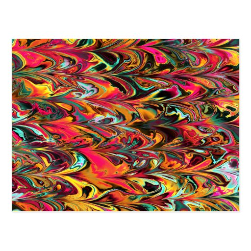 Multicolor Fractal. Parrot Pattern. Abstract Art. Postcard