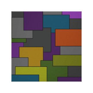 Multicolor Geometric Abstract Art Canvas Print