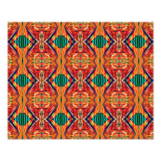 Multicolor Geometric Design. Abstract Pattern 11.5 Cm X 14 Cm Flyer