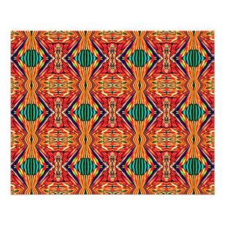 Multicolor Geometric Design. Abstract Pattern 11.5 Cm X 14 Cm Flyer